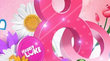Khuyến mãi ngày 8/3 với slot HappyLuke hàng tuần