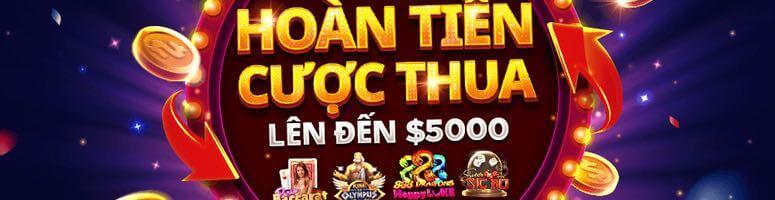 Hoàn trả 5000 USD cược thua Slot và Live Casino HappyLuke